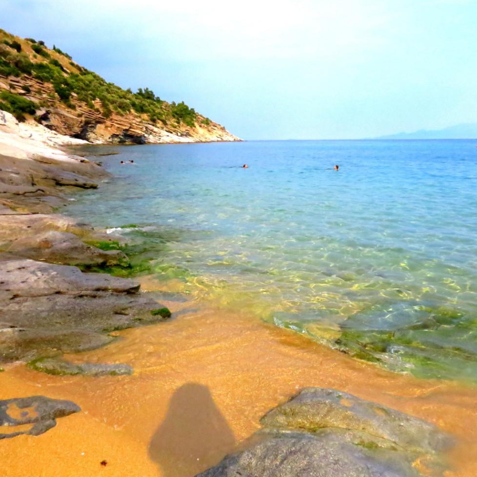 Kavala. Beach Ocean and Chess