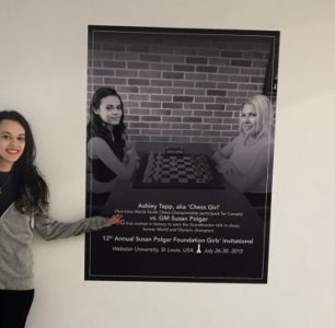 Chess Girl Ashley and Chess Master Dan Challenge you at Park Royal Shopping Centre